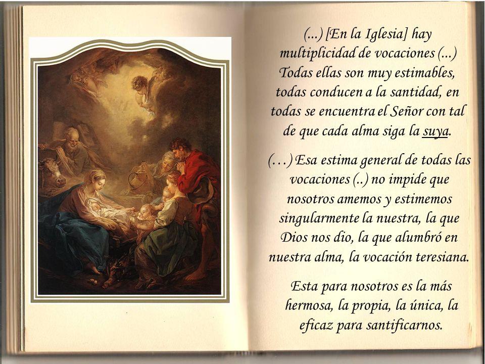 (. ) [En la Iglesia] hay multiplicidad de vocaciones (